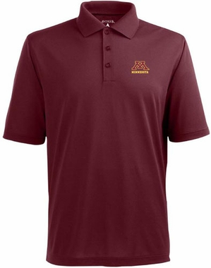 Minnesota Mens Pique Xtra Lite Polo Shirt (Color: Maroon)