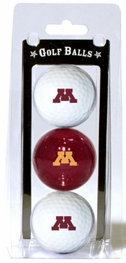 Minnesota Set of 3 Multicolor Golf Balls