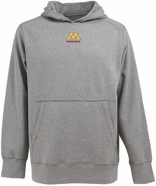 Minnesota Mens Signature Hooded Sweatshirt (Color: Gray)
