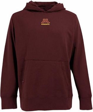 Minnesota Mens Signature Hooded Sweatshirt (Team Color: Maroon)