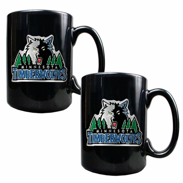 Minnesota Timberwolves 2 Piece Coffee Mug Set