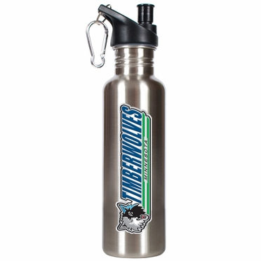 Minnesota Timberwolves 26oz Stainless Steel Water Bottle (Silver)