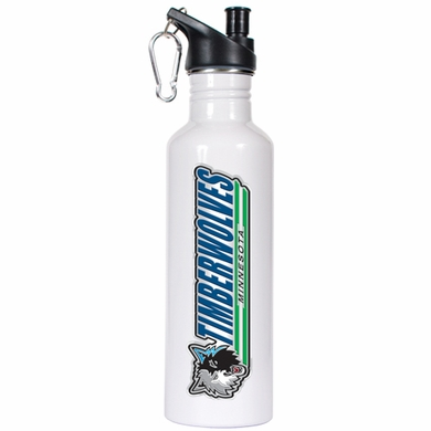 Minnesota Timberwolves 26oz Stainless Steel Water Bottle (White)