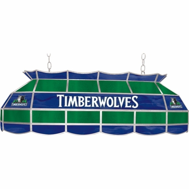 Minnesota Timberwolves 40 Inch Rectangular Stained Glass Billiard Light