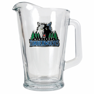 Minnesota Timberwolves 60 oz Glass Pitcher