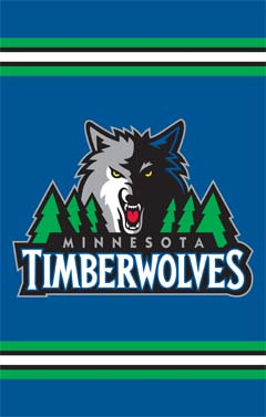 Minnesota Timberwolves Applique Banner Flag