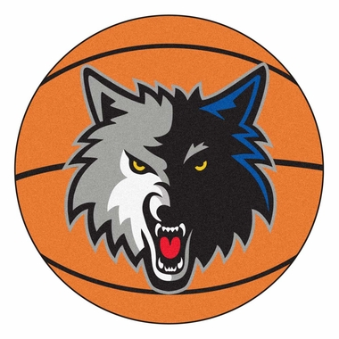 Minnesota Timberwolves 27 Inch Basketball Shaped Rug