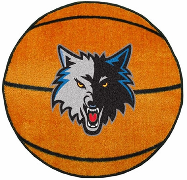 Minnesota Timberwolves Basketball Shaped Rug