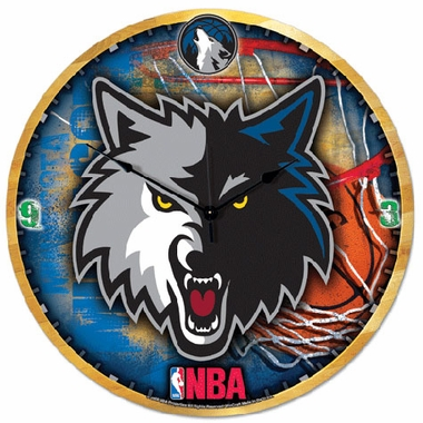 Minnesota Timberwolves Big 18 Inch Hi Definition Clock