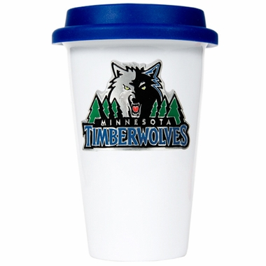 Minnesota Timberwolves Ceramic Travel Cup (Team Color Lid)