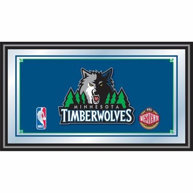 Minnesota Timberwolves Framed Logo Bar Mirror