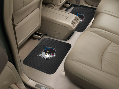 Minnesota Timberwolves SET OF 2 Heavy Duty Vinyl Rear Car Mats