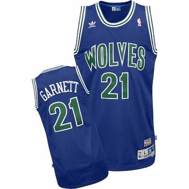 Minnesota Timberwolves Kevin Garnett Adidas Team Color Throwback Replica Premiere Jersey