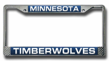 Minnesota Timberwolves Laser Etched Chrome License Plate Frame