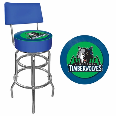 Minnesota Timberwolves Padded Bar Stool with Back