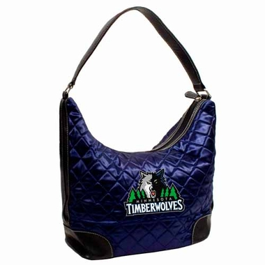 Minnesota Timberwolves Quilted Hobo Purse