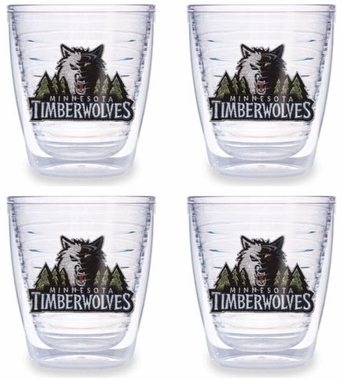 Minnesota Timberwolves Set of FOUR 12 oz. Tervis Tumblers