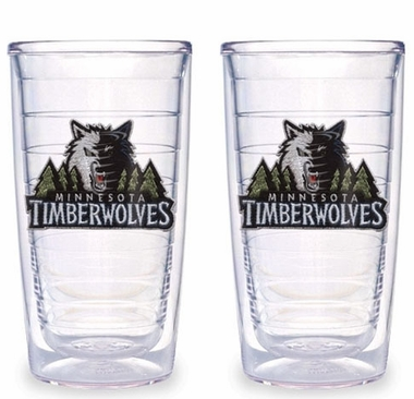 Minnesota Timberwolves Set of TWO 16 oz. Tervis Tumblers