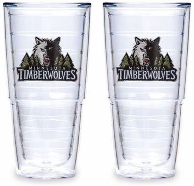 Minnesota Timberwolves Set of TWO 24 oz. Tervis Tumblers