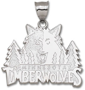 Minnesota Timberwolves Sterling Silver Pendant