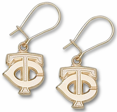Minnesota Twins 10K Gold Post or Dangle Earrings