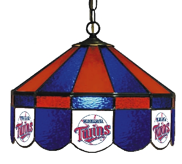 Minnesota Twins 16 Inch Diameter Stained Glass Pub Light
