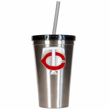 Minnesota Twins 16oz Stainless Steel Insulated Tumbler with Straw