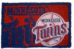 Minnesota Twins 18x30 Bleached Welcome Mat