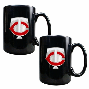 Minnesota Twins 2 Piece Coffee Mug Set