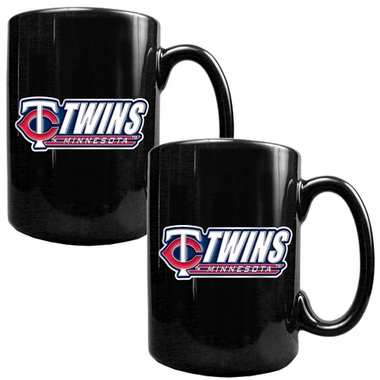 Minnesota Twins 2 Piece Coffee Mug Set (Wordmark)