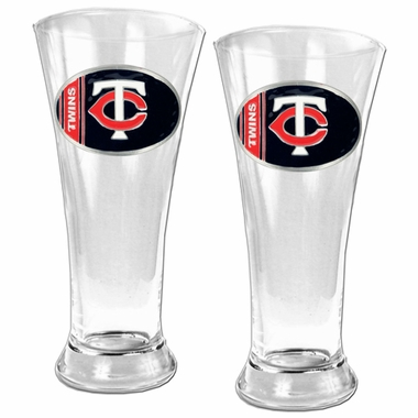 Minnesota Twins 2 Piece Pilsner Glass Set
