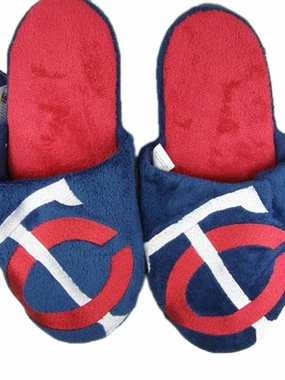 Minnesota Twins 2011 Big Logo Hard Sole Slippers (Two Tone)