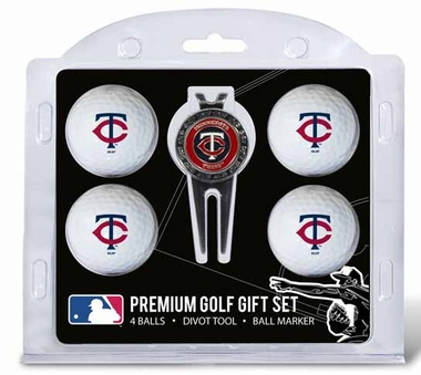 Minnesota Twins 4 Ball and Tool Gift Set