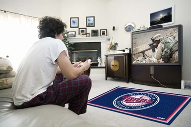 Minnesota Twins 4 Foot x 6 Foot Rug