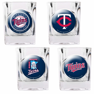 Minnesota Twins 4 Piece Assorted Shot Glass Set