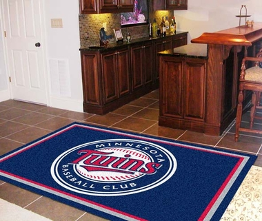 Minnesota Twins 5 Foot x 8 Foot Rug