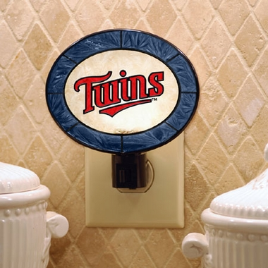 Minnesota Twins Art Glass Night Light