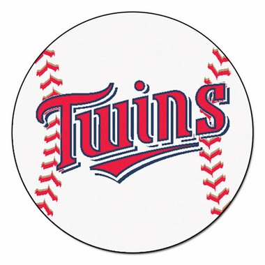 Minnesota Twins 27 Inch Baseball Shaped Rug