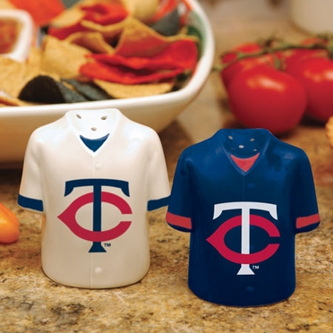 Minnesota Twins Ceramic Jersey Salt and Pepper Shakers