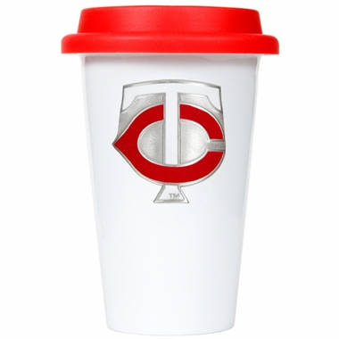 Minnesota Twins Ceramic Travel Cup (Team Color Lid)