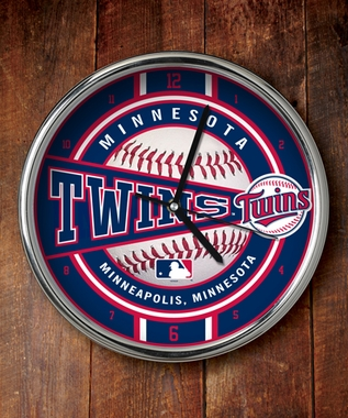 Minnesota Twins Chrome Clock