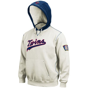 Minnesota Twins Cooperstown Natural Hooded Sweatshirt - Medium