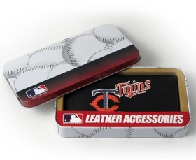 Minnesota Twins Embroidered Leather Checkbook Cover