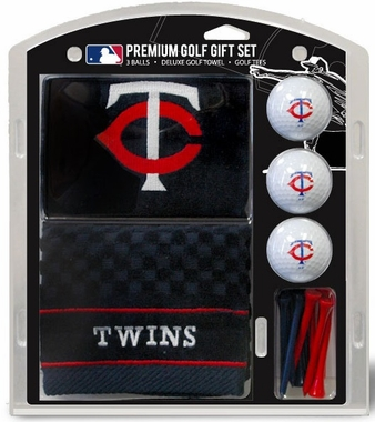 Minnesota Twins Embroidered Towel Golf Gift Set
