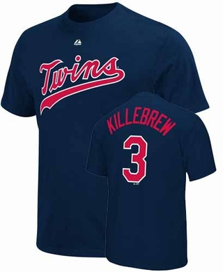 Minnesota Twins Harmon Killebrew Name and Number T-Shirt