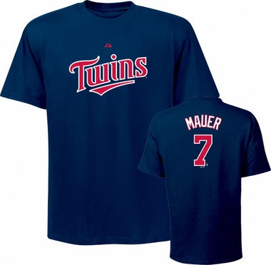 Minnesota Twins Joe Mauer Name and Number T-Shirt