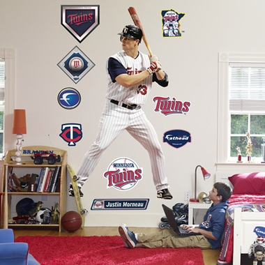 Minnesota Twins Justin Morneau Fathead Wall Graphic