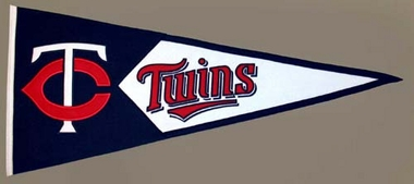 Minnesota Twins Large Wool Pennant