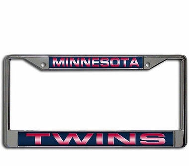 Minnesota Twins Laser Etched Chrome License Plate Frame