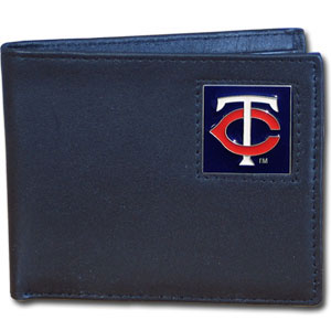 Minnesota Twins Leather Bifold Wallet (F)